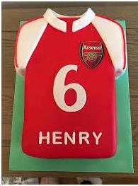 A football inspired birthday cake design